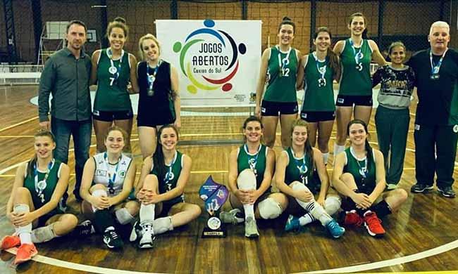 Equipe Recreio da Juventude 1 - Caxias: equipe Recreio da Juventude é campeã dos Jogos Abertos de Vôlei Feminino