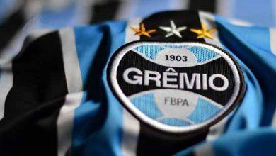 Escudo do Grêmio F C 390x220 - Grêmio anuncia recurso à pena imposta pelo STJD
