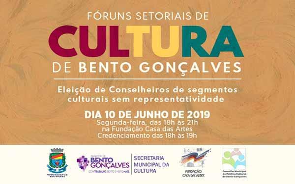 FÓRUNS SETORIAIS DE CULTURA - Fóruns Setoriais de Cultura em Bento Gonçalves já tem data