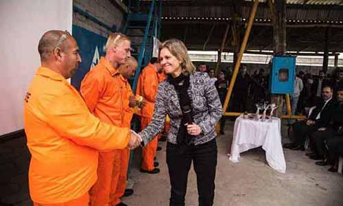 Fábrica em presídio de Pelotas 3 - Inaugurada fábrica de artigos de concreto no Presídio de Pelotas