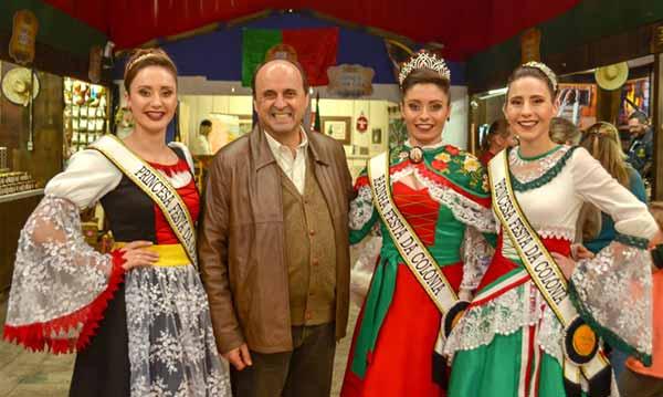 Festa da Colônia 3 - Fedoca Bertolucci visita Festa da Colônia de Gramado