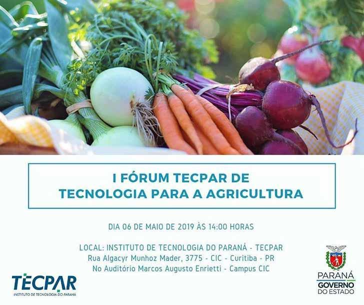 I Fórum de Tecnologia para a Agricultura - Fórum em Curitiba debate tecnologia para pequenos agricultores