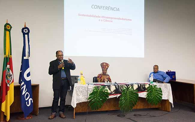 Neabi Sustentabilidade 1 - Conferência ma Unisinos: Sustentabilidade, afroempreendedorismo e a ciência