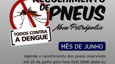 Nova Petrópolis promove Recolhimento de Pneus em junho 390x220 - Nova Petrópolis promove recolhimento de pneus em junho