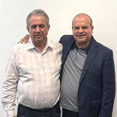 O Prefeito de Tijucas Eloi Mariano Rocha e o Gerente do Sebrae da Foz Eng. Sérgio Fernandes Cardoso - Sebrae lança segunda etapa do projeto Cidade Empreendedora em Tijucas