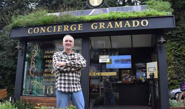 Pedro Accosi no Concierge Ângelo Bisol - Gramado inova com modelo de espaço urbano que atende turistas e moradores