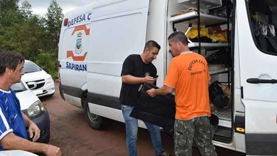 Prefeitura de Sapiranga 1 - Prefeitura de Sapiranga auxilia famílias atingidas pelo temporal