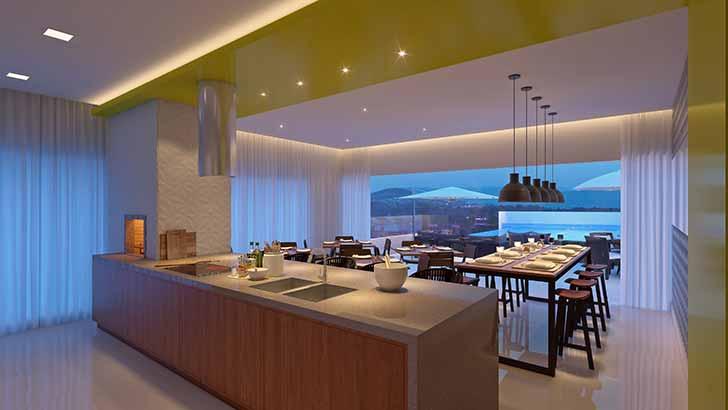 Salão Gourmet - Construttore Empreendimentos entrega edifício Solares da Brava HomeBeach