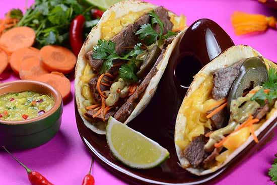 Taco de alcatra ao trio de mostarda - Guacamole Cocina Mexicana lança novas versões de tacos