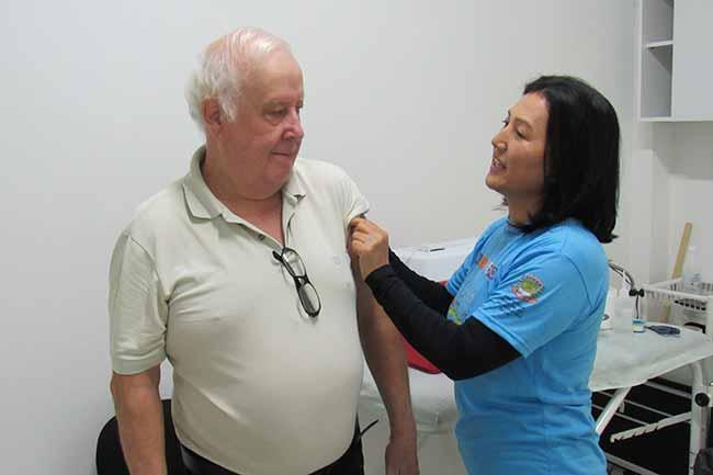 Vacinação contra a Gripe caí - Caí já vacinou 75% do público alvo contra a gripe