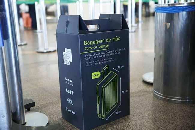 bagagem de mão - Aeroportos reforçam fiscalização de bagagens de mão