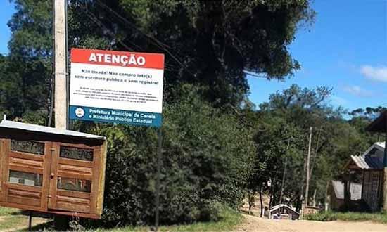 compra de lotes irregulares em Canela - Canela: Prefeitura alerta população sobre compra de lotes irregulares