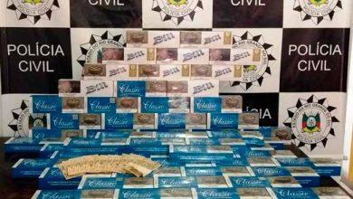 contrabando de cigarros em São Leopoldo 390x220 - Homem é preso em flagrante por contrabando de cigarros em São Leopoldo