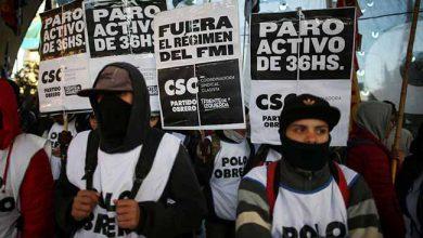greve argentina 390x220 - Sindicatos fazem greve na Argentina