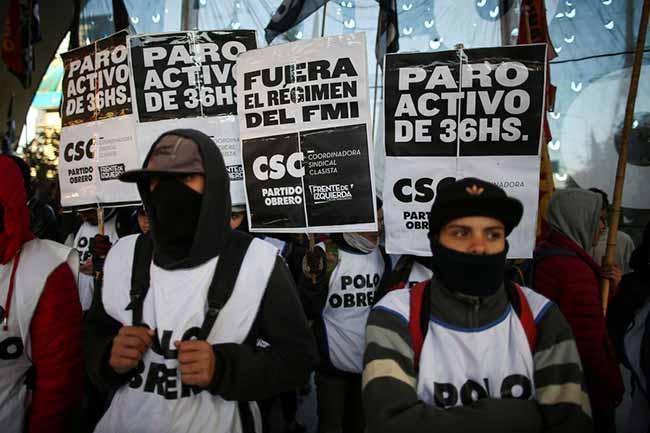 greve argentina - Sindicatos fazem greve na Argentina