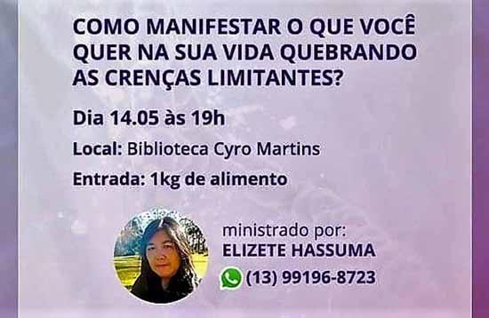 palestra sobre crenças limitantes - Biblioteca Cyro Martins de Gramado promove palestra