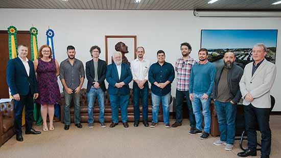 petrobras reitoria unisinos - Unisinos recebe visita do Centro de Pesquisas da Petrobras