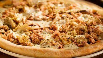 pizza de 3 cogumelos com atum e requeijao 390x220 - Pizza de Cogumelos com Atum e Requeijão