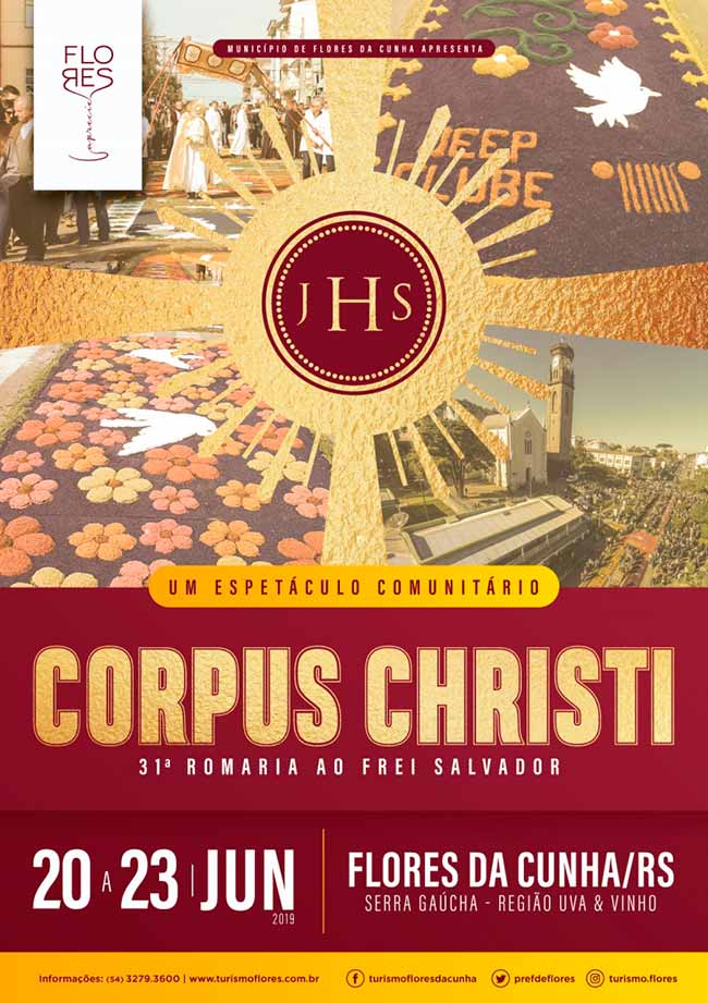 programação de Corpus Christi em Flores da Cunha - Confira a programação de Corpus Christi em Flores da Cunha