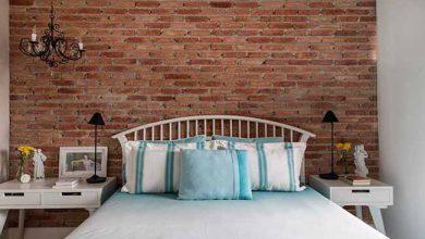 quarto6 390x220 - Quarto aconchegante: revestimento de parede, cabeceira e criado-mudo
