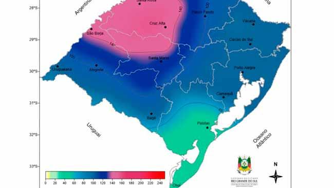 rs - RS terá chuva e temperaturas amenas para os próximos dias