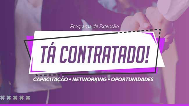 ta contratado flyer - Emprego: UniAvan investe em parcerias para aproximar alunos do mercado de trabalho