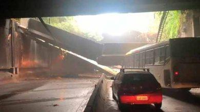 tunel rio 390x220 - Desabamento fecha túnel no Rio de Janeiro