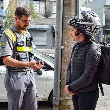 Ação Motociclistas Secretaria de Trânsito 1 - Secretaria de Trânsito promove ação educativa pela segurança de motociclistas em Caxias