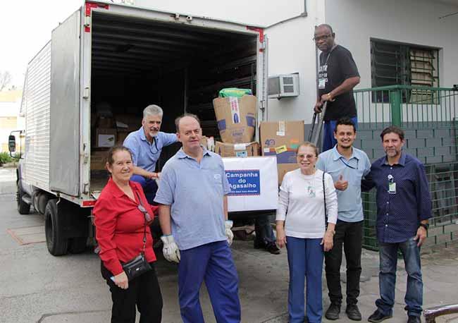 Campanha do Agasalho ghc - Grupo Hospitalar Conceição entrega arrecadações da Campanha do Agasalho