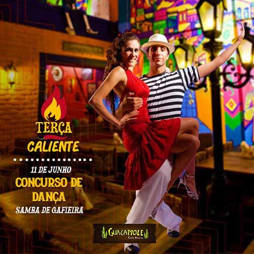 """Concurso de Dança Terça Caliente 1 - Samba é o ritmo da 2ª edição do """"Concurso de Dança Terça Caliente"""" do Guacamole BC"""