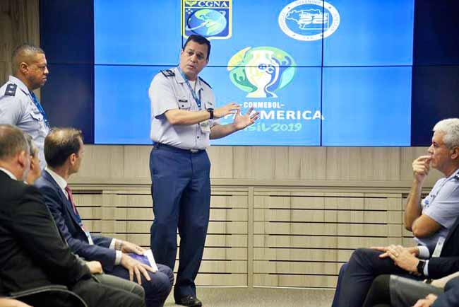 CopaAmérica sala - Aeronáutica inaugura sala de comando para Copa América