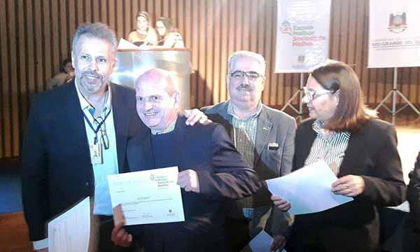 Faisal Karan secretário estadual da Educação e Marco Martins gestor comercial da EGP Energy - EGP Energy é parceira do Governo do Estado para a Educação