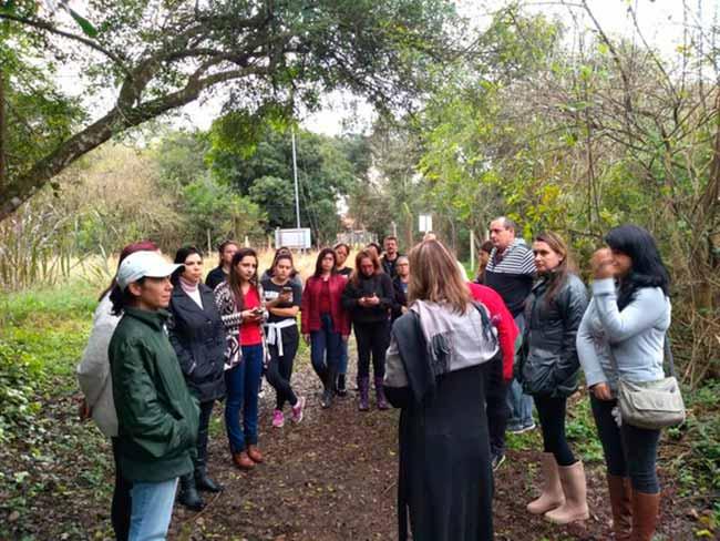 Parque Imperatriz Leopoldina de São Leopoldo - Alunos da UFRGS realizam atividades no Parque Imperatriz Leopoldina
