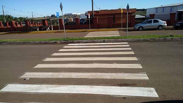 Passo Fundo realiza melhorias - Passo Fundo realiza melhorias na sinalização no Distrito Industrial