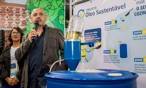 Sanep lança projeto Óleo Sustentável - Sanep lança projeto Óleo Sustentável no estande da 27ª Fenadoce