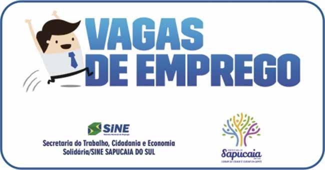Vagas de emprego site 9 - Amanhã tem seleção de empregos em Sapucaia do Sul