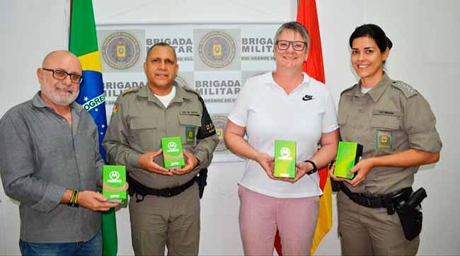 bmsl - Brigada Militar recebe doação de smartphones em São Leopoldo