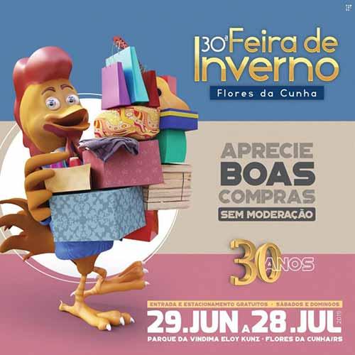 boas compras em Flores da Cunha - Feira de Inverno com 80 expositores inicia dia 29/06 em Flores da Cunha