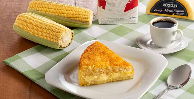 bolo de pamonha - Bolo delícia de pamonha