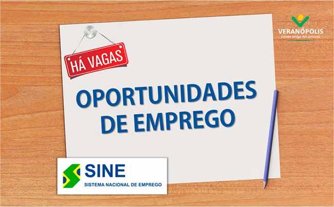 confira as vagas de emprego disponiveis no sine de veranopolis 14909 - Confira as vagas de emprego disponíveis no Sine de Veranópolis