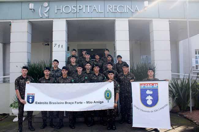 doaç16gac - Militares do 16º GAC AP doam sangue em Novo Hamburgo