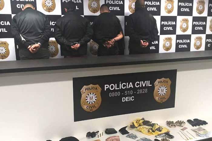 extorsão mediante sequestro em Guaporé - Quarteto é preso por extorsão mediante sequestro em Guaporé