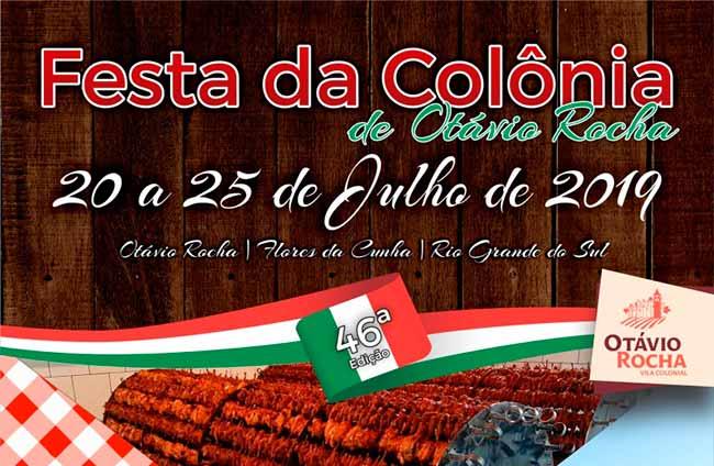 festa otaviorocha - Confira a programação da 46ª Festa da Colônia de Otávio Rocha