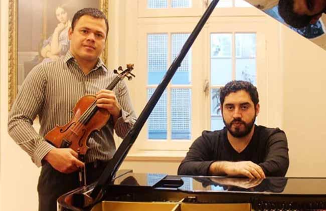 fg - Piano e violino em recital na Pinacoteca
