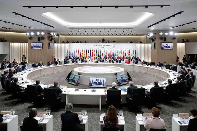 g20japão - Inicia reunião de cúpula do G20 no Japão
