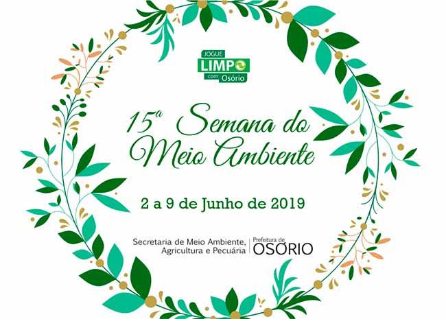 maior MEIO AMBIENTE CARD - 15ª Semana do Meio Ambiente segue até domingo em Osório