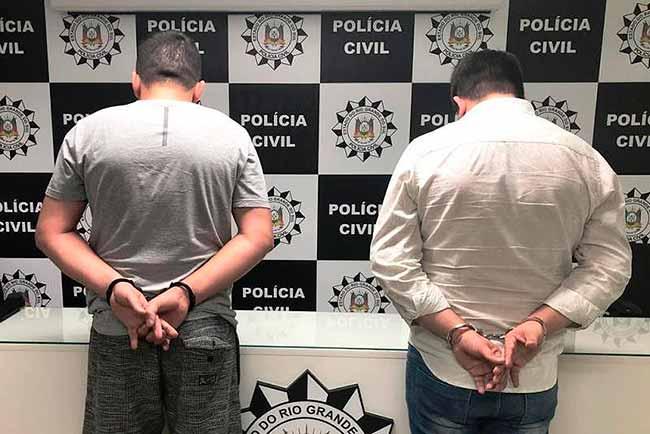 omércio ilegal de arma - Dois homens são presos em Sapiranga por comércio ilegal de armas