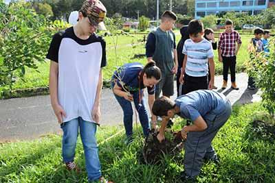plantio de árvore em Sapiranga 2 - Semana do Meio Ambiente inicia com plantio de árvore em Sapiranga