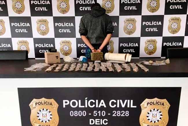 policia sl - Homem é preso em São Leopoldo por tráfico de drogas