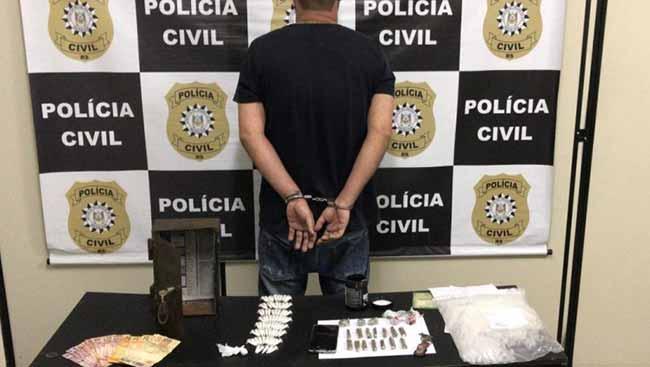 preso em Sapucaia do Sul - Homem é preso em Sapucaia do Sul por tráfico de drogas